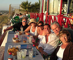 Rocky Point Picture of People Having Dinner at The Lighthouse Restaurant at Sunset